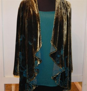 Citron Cascade Front Jacket and Classic Scoop tank-Rain forest