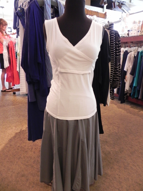 Luna Luz White Tank and Gray Skirt