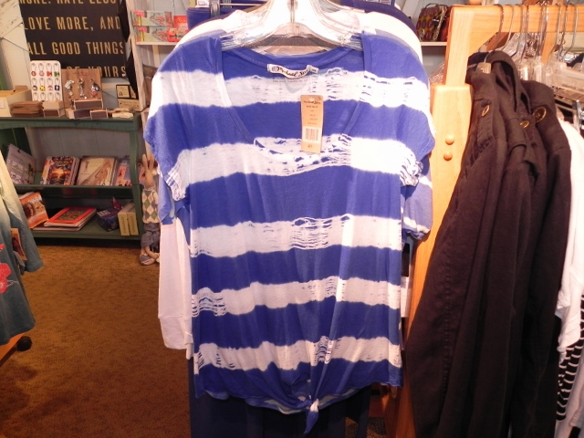 Michael Stars Blue Stripe Top