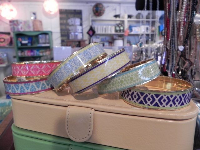 Two's Company Enameled Bracelets