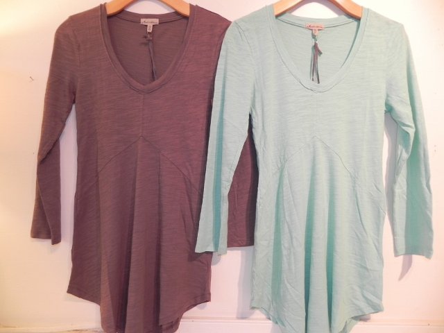 Mododoc Three Quarter Sleeve Tunic in Polar Ice and Mint