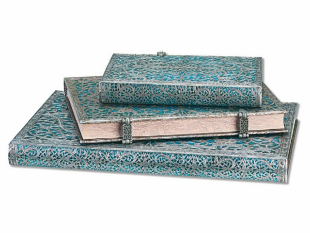 Paperblanks Silver and Blue