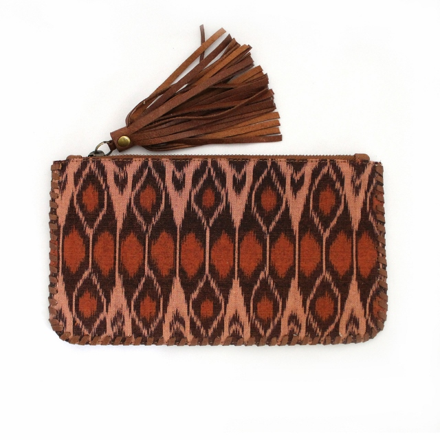 Tiger Rose brown-wallet