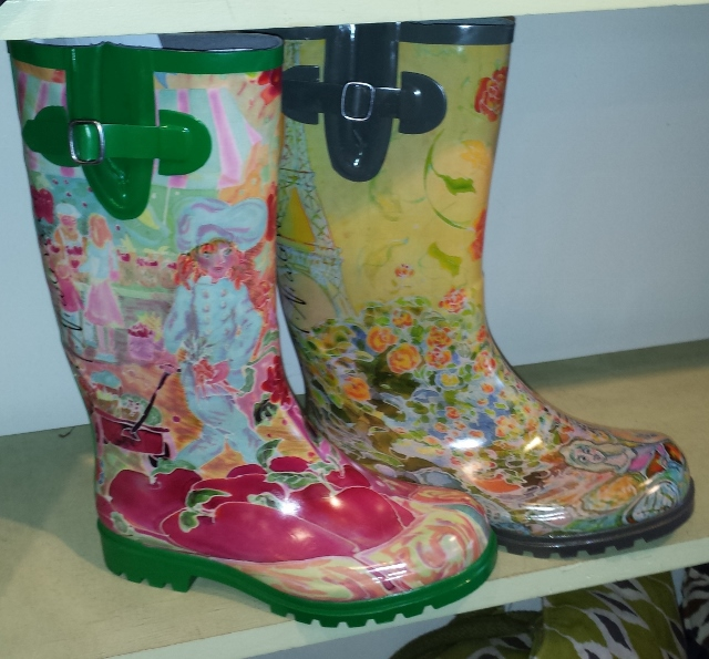 Nomad Rain Boots- Artist and Puddles III Printed
