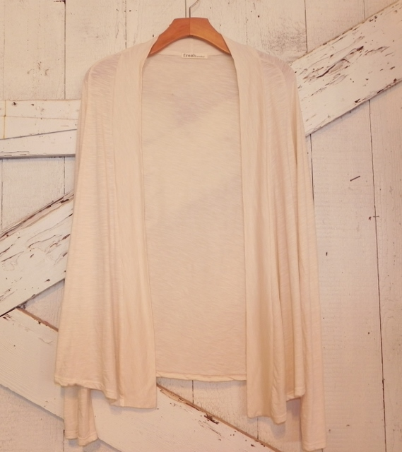 Fresh Laundry Open Jacket in Creme