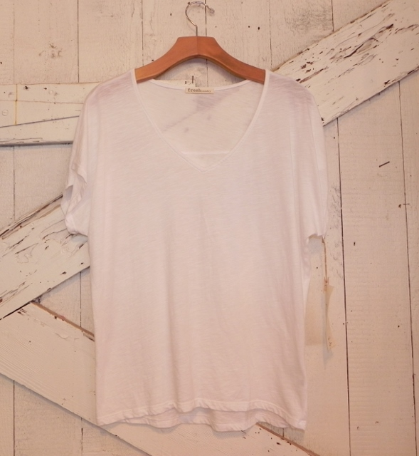 Fresh Laundry White V-Neck Tee