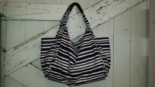 Bliss Blue Stripe Canvas Tote