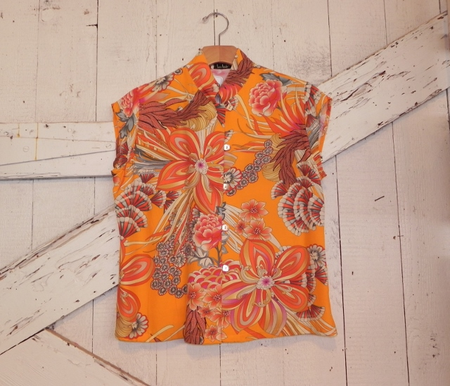 Loco Lindo Short Sleeve Mandarin Collar Top