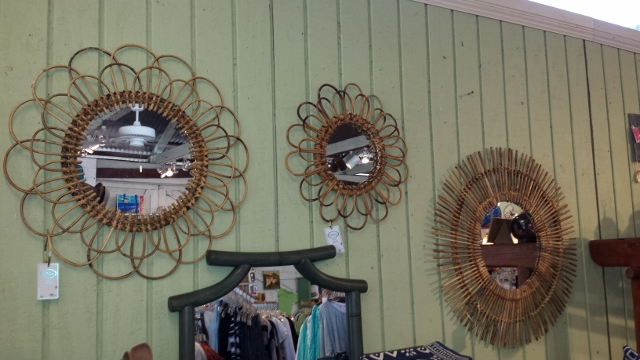 Bamboo and Rattan Mirrors from Two's Company