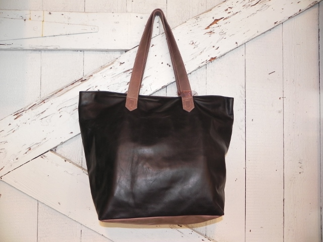Evangeline Large Tote- Two Tone Black and Cocoa
