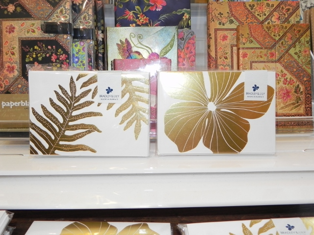 Bradley and Lily Stationary-Gold Fern and Plumeria