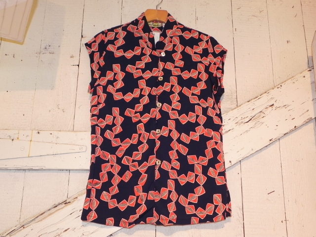 Loco Lindo Mandarin Short Sleeve Top