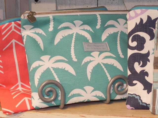 Love Turquoise Palm Tree Clutch